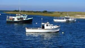 Moored Fishing Boats Cape Cod